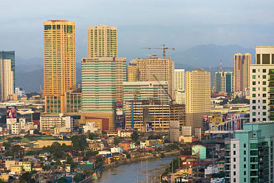Skyline Along Manila Bay, Manila Poster