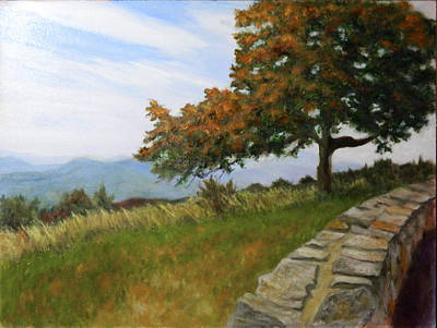Poster featuring the painting Skyline Drive Virginia by Sandra Nardone