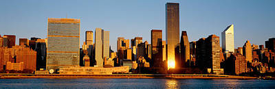 Skyline, Manhattan, New York State, Usa Poster by Panoramic Images