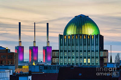 Skyline Of Hannover In Germany Poster by Michael Abid