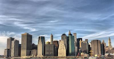Skyline Of Ny Poster by Pier Giorgio Mariani