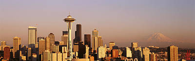 Skyline, Seattle, Washington State, Usa Poster by Panoramic Images