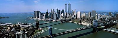Skyline Showing World Trade Center Poster