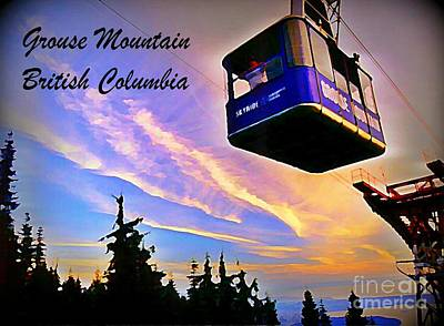 Skyride At Grouse Mountain British Columbia Canada Poster by John Malone