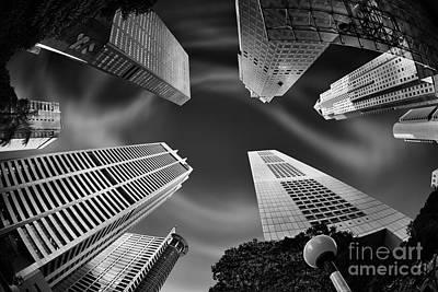 Skyscraper Swirl Poster