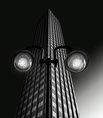 Skyscraper With Glasses Poster