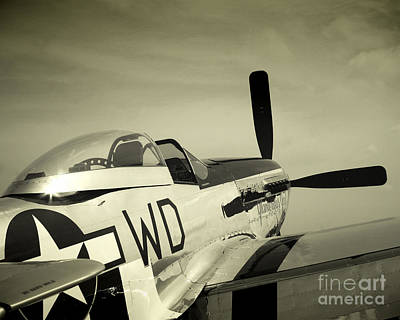 Skyward P-51 Poster by Bryan Maransky