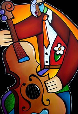 Slappin The Bass By Fidostudio Poster by Tom Fedro - Fidostudio