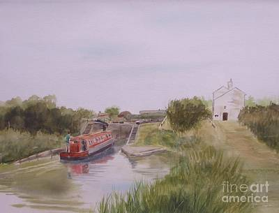 Poster featuring the painting Slapton Lock by Martin Howard