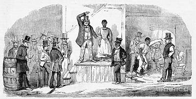 Slave Auction, Richmond, Virginia, 1857 Poster by Wellcome Images