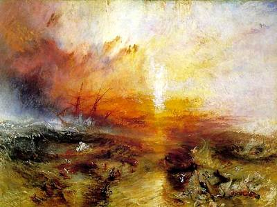 Slave Ship Poster by Joseph Mallord William Turner