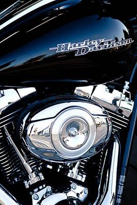 Sleek Black Harley Poster