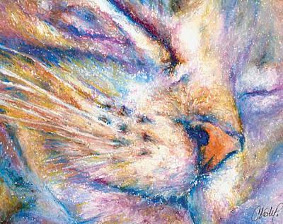 Sleeper Kitty Poster by Christy  Freeman