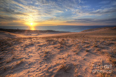 Sleeping Bear Dunes Sunset Poster