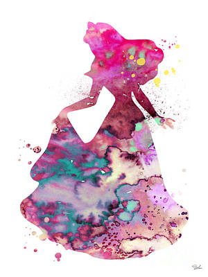 Sleeping Beauty Poster by Watercolor Girl
