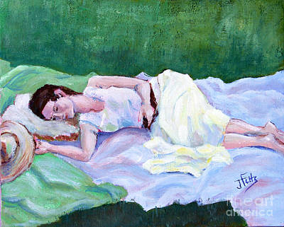Sleeping Girl Poster by Janet Felts