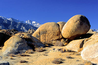 Sleeping Rock Alabama Hills Poster