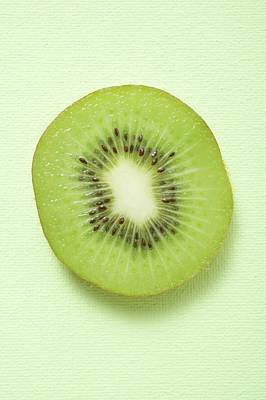 Slice Of Kiwi Fruit (overhead View) Poster