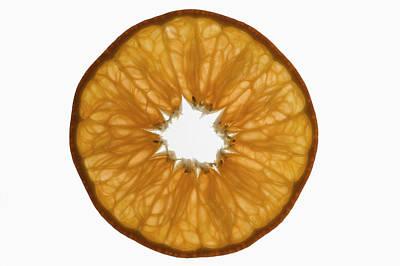 Slice Of Mandarin, Backlit Poster