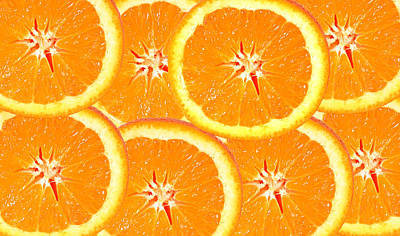 Slices Of Citrus Poster by Cecil Fuselier