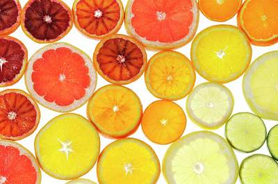 Slices Of Citrus Fruit Poster by Cordelia Molloy