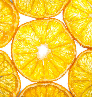 Slices Orange. Poster