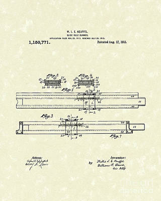 Slide Rule Runner 1915 Patent Art Poster by Prior Art Design