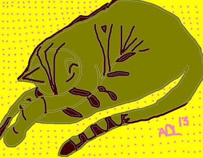 Slipper Poster by Anita Dale Livaditis