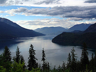 Slocan Lake Looking North Poster