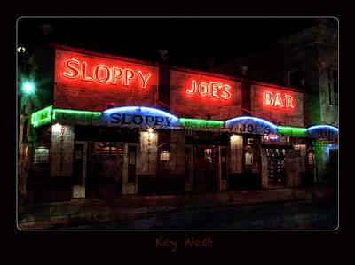 Sloppy Joes Bar After Dark Key West Poster by John Stephens