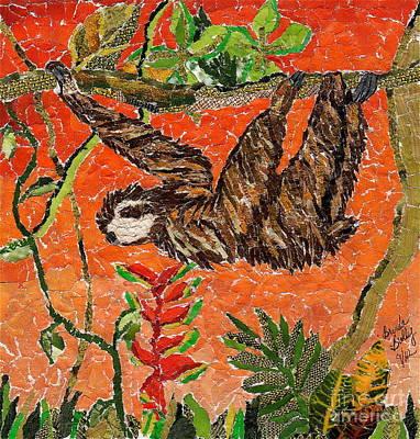 Sloth Just Hangin  Poster