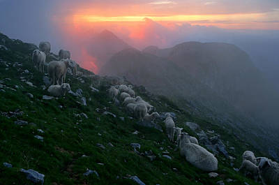 Poster featuring the photograph Slovenian Sunset by Graham Hawcroft pixsellpix