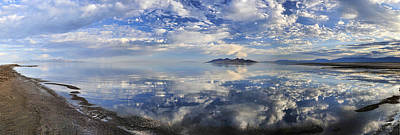 Poster featuring the photograph Slow Ripples Over The Shallow Waters Of The Great Salt Lake by Sebastien Coursol