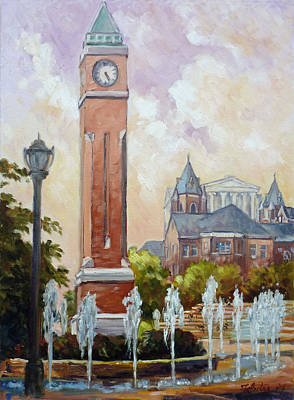 Slu Clock Tower In St.louis Poster