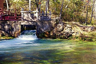 Sluice Gate At Alley Spring Poster by Marty Koch