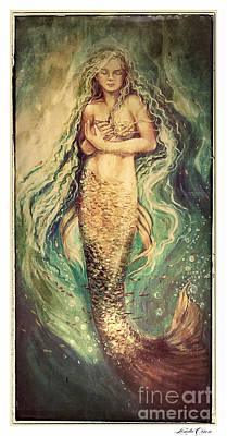 Slumbering Siren Illustration Poster by Linda Olsen