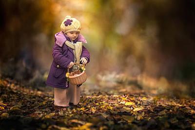 Small Autumn Fairy Poster