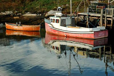 Small Boats At Peggy's Cove. Nova Scotia. Poster