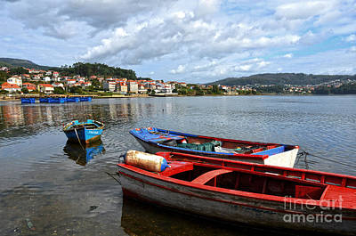 Small Boats In Galicia Poster