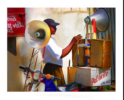Poster featuring the digital art Small Business by Bob Salo