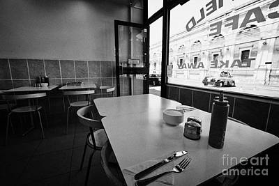 Small Cafe Tables And Window At Smithfield Market London England Uk Poster