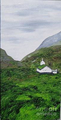 Poster featuring the painting Small Church by Susanne Baumann
