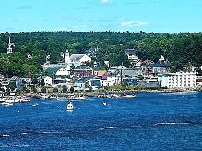 Small Coastal Town America Poster