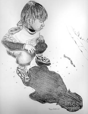 Poster featuring the drawing Small Discovery by Joyce Gebauer