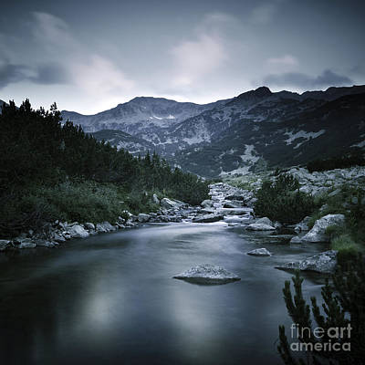 Small River In The Mountains Of Pirin Poster