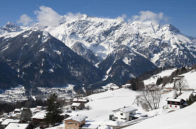 Small Town In Austria In Winter - Beautiful Mountain Landscape Poster