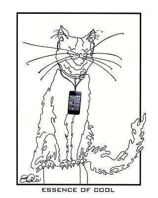 Smart Phone Cat Poster