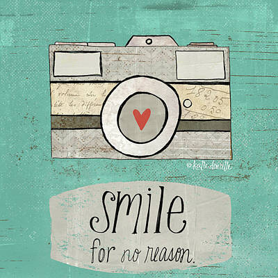 Smile Poster by Katie Doucette