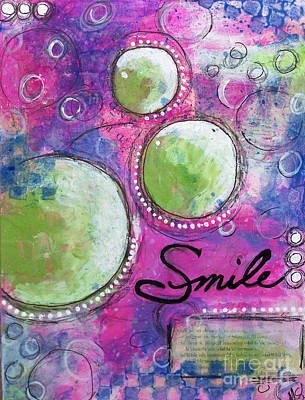 Poster featuring the painting Smile by Melissa Sherbon