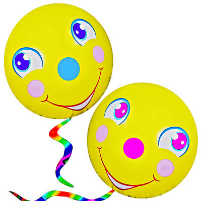 Smiley Face Balloons Poster